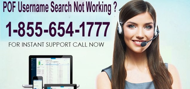 POF Username Search Not Working ? Call Now 1-855-654-1777