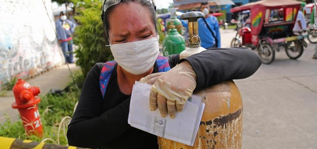 Peruvians cry out for oxygen as coronavirus takes its toll
