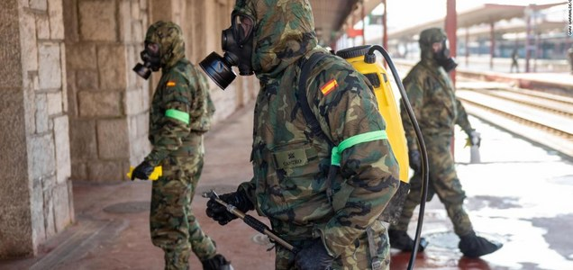 Europe's military forces battle coronavirus surge