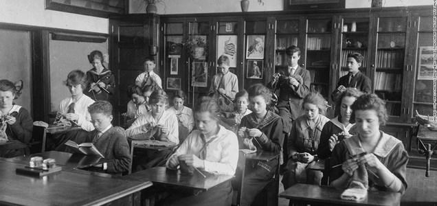 Lo que ocurrió en la pandemia de 1918 cuando estudiantes fueron a la escuela
