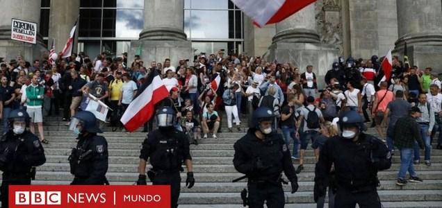 La protesta contra las restricciones por el covid-19 en Alemania que acabó con un intento de asaltar el Parlamento