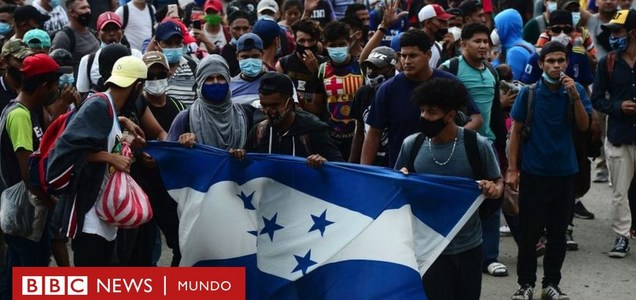 La primera caravana de migrantes en tiempos de coronavirus se dirige a EE.UU. a un mes de las elecciones