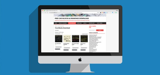 LineCAD disponibiliza uma enorme biblioteca gratuita de blocos CAD