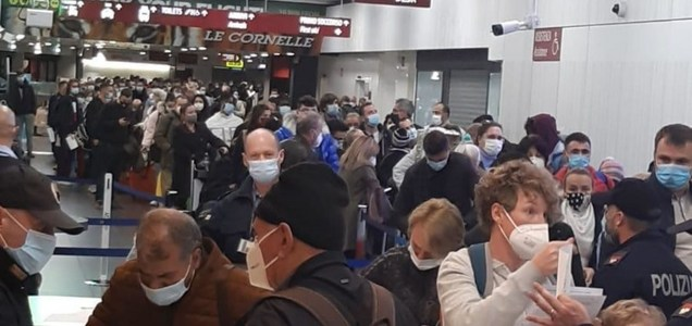 Passeggeri senza autocertificazione, scoppia il caos all'aeroporto di Orio