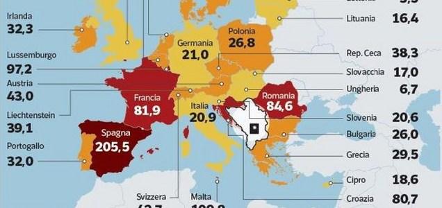 """Il contagio sale ovunque. Italia """"meglio"""" della media europea"""