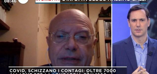 """Massimo Galli: """"Ridurre presenza sui mezzi, serve didattica a distanza alle superiori"""""""