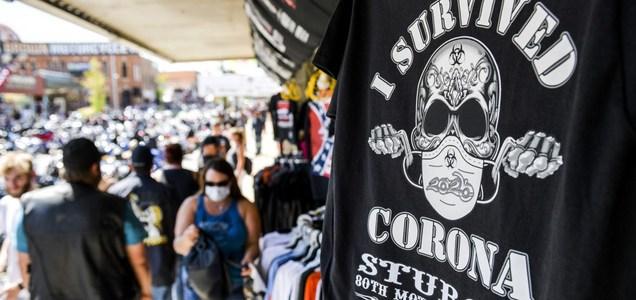 Sturgis motorcycle rally draws thousands of bikers despite coronavirus fears