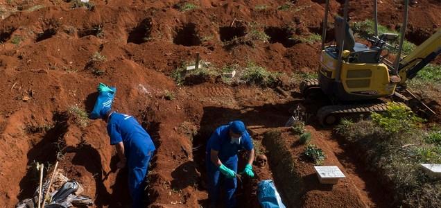 Brazil is exhuming graveyards to make room for increased burials amid coronavirus