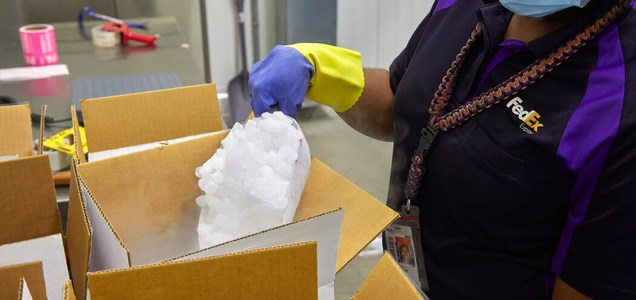 La difícil tarea de transportar una vacuna que debe estar a 80 grados Celsius bajo cero