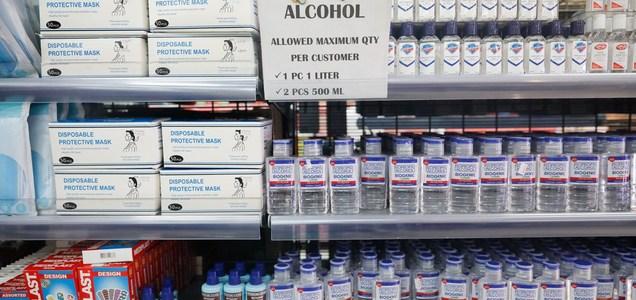 Por qué algunos desinfectantes a base de alcohol no eliminan el coronavirus