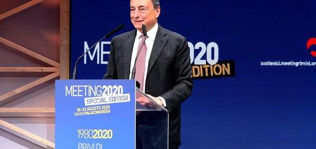 """Draghi: """"I sussidi non bastano, ai giovani bisogna dare di più"""""""