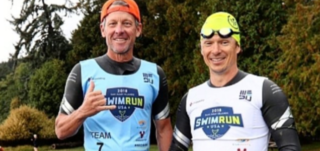 Lance Armstrong Is Back Competing, Does SwimRun Event with