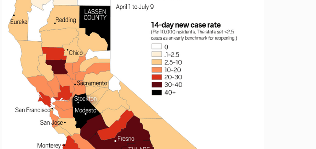 Watch: See how coronavirus is now spreading faster across California
