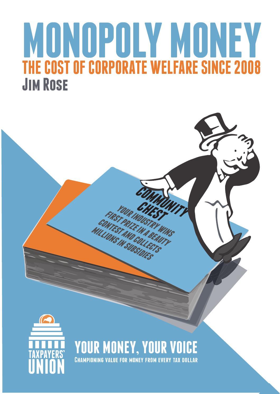 Monopoly Money - Taxpayers' Union