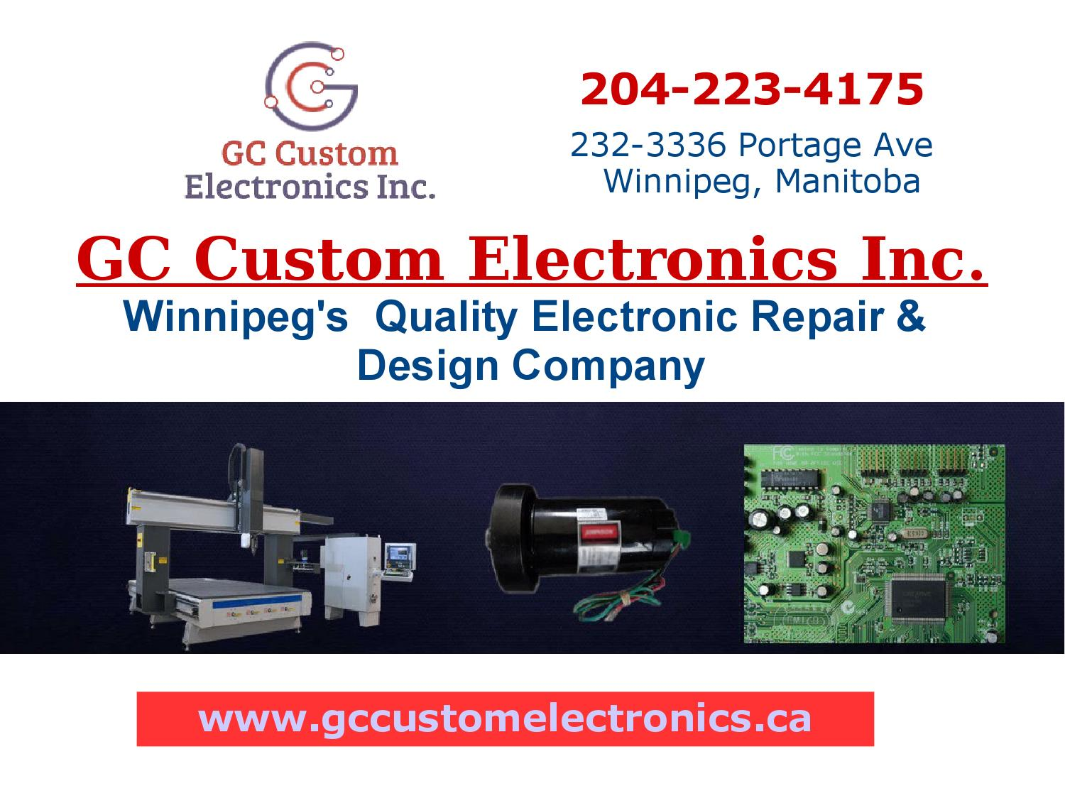Circuit Board Repair Winnipeg In Gc Custom Electronics Inc Electronic Winnipegs Design Service