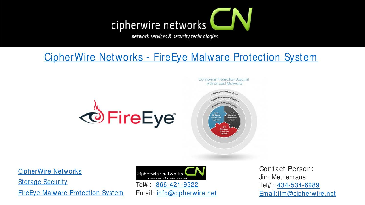 Cipherwire networks fireeye malware protection