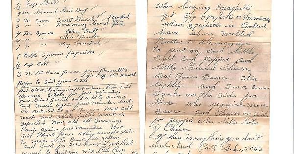 Homeowner finds secret pasta sauce recipe hidden in garage from 1947