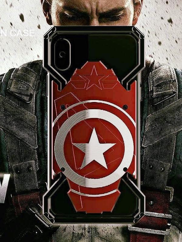 ỐP CAPTAIN AMERICA IPHONE 6G/6P/7G/7P/8G/8P/X XS/XS MAX — SAMSUNG S7EGDE/ S8/ S8+/ S9/ S9+/ NOTE 8/ NOTE 9