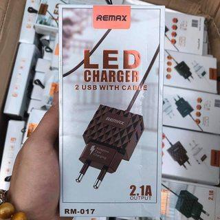 BỘ SẠC REMAX RM-017 ĐẦU MICRO CÓ HỖ TRỢ 2 CỔNG USB
